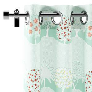 """Tree of Life Window Curtains (Set of 2) (Multi Colour, 54"""" x 60"""" Curtain Size, Groove Pattern) by Urban Ladder"""