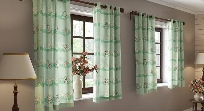 "Tree of Life Window Curtains (Set of 2) (Multi Colour, 54"" x 60"" Curtain Size, Groove Pattern) by Urban Ladder"