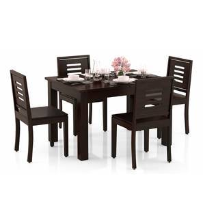 Arabia 4-to-6 Extendable - Capra 4 Seater Dining Table Set (Mahogany Finish) by Urban Ladder