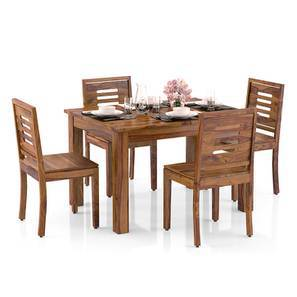 Arabia 4-to-6 Extendable - Capra 4 Seater Dining Table Set (Teak Finish) by Urban Ladder