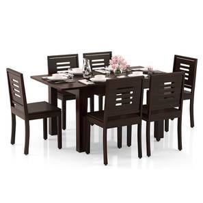 Arabia 4-to-6 Extendable - Capra 6 Seater Dining Table Set (Mahogany Finish) by Urban Ladder