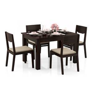 Arabia 4-to-6 Extendable - Kerry 4 Seater Dining Table Set (Mahogany Finish, Wheat Brown) by Urban Ladder