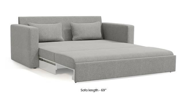 Camden Sofa Cum Bed (Vapour Grey) (3-seater Custom Set - Sofas, None Standard Set - Sofas, Fabric Sofa Material, Regular Sofa Size, Regular Sofa Type, Vapour Grey)