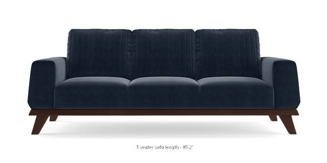 Granada Sofa (Sea Port Blue Velvet) (3-seater Custom Set - Sofas, None Standard Set - Sofas, Fabric Sofa Material, Regular Sofa Size, Regular Sofa Type, Sea Port Blue Velvet)