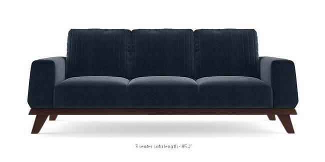 Granada Sofa (Sea Port Blue Velvet) (3-seater Custom Set - Sofas, None Standard Set - Sofas, Fabric Sofa Material, Regular Sofa Size, Regular Sofa Type, Sea Port Blue Velvet)