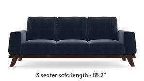 Granada Sofa (Sea Port Blue Velvet)