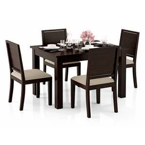 Arabia 4-to-6 Extendable - Oribi 4 Seater Dining Table Set (Mahogany Finish, Wheat Brown) by Urban Ladder
