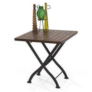 Masai Patio Table (Teak Finish) by Urban Ladder