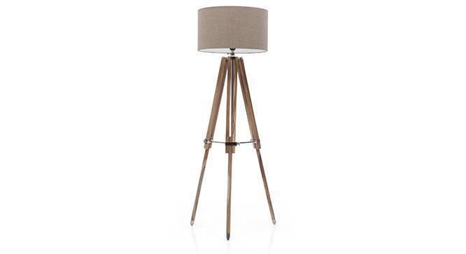 Kepler Tripod Floor Lamp (Natural Base Finish, Natural Shade Color, Drum Shade Shape) by Urban Ladder
