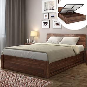 Boston Hydraulic Storage Bed (Teak Finish, King Bed Size) by Urban Ladder