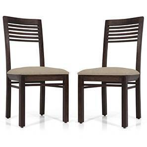 Zella Dining Chairs - Set of 2 (Mahogany Finish, Wheat Brown) by Urban Ladder