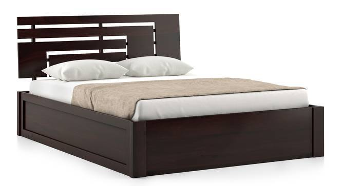 Stockholm Storage Bed (Mahogany Finish, King Bed Size, Box Storage Type) by Urban Ladder