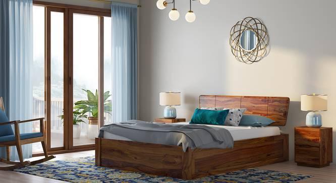 Marieta Storage Bed (Teak Finish, Queen Bed Size, Box Storage Type) by Urban Ladder
