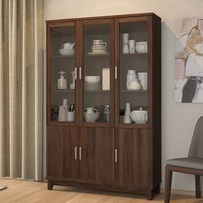 Alton Display Cabinet With 6 Doors Walnut Finish