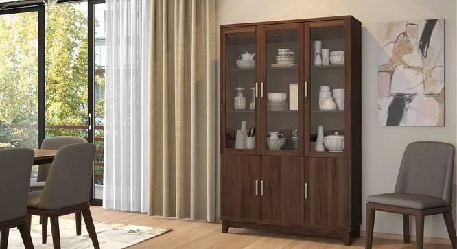 Alton Display Cabinet with 6 Doors (Walnut Finish) by Urban Ladder