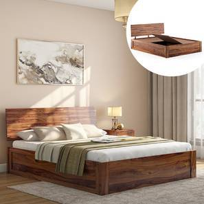 Boston Storage Bed (Teak Finish, King Bed Size, Box Storage Type) by Urban Ladder
