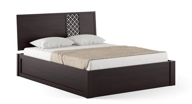 Alaca Storage Bed (Mahogany Finish, King Bed Size, Box Storage Type) by Urban Ladder