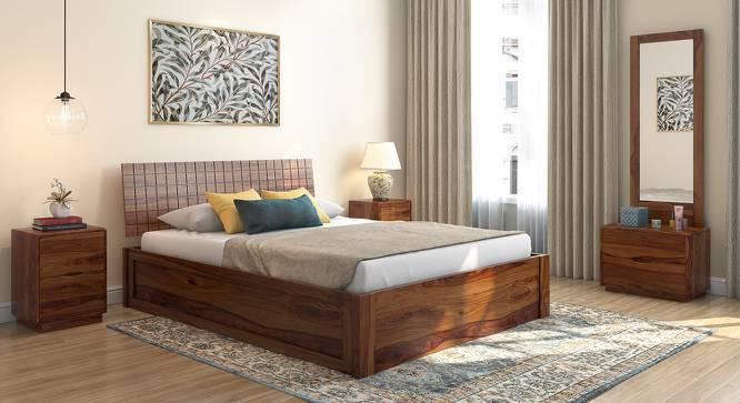 Valencia Storage Bed (Teak Finish, King Bed Size, Box Storage Type) by Urban Ladder