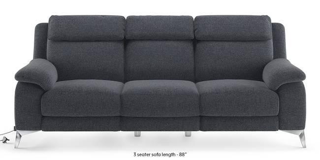 Emila Motorized Recliner Sofa Set (Blue) (Blue, None Custom Set - Sofas, 3-2 Set Standard Set - Sofas, Fabric Sofa Material, Regular Sofa Size, Regular Sofa Type)