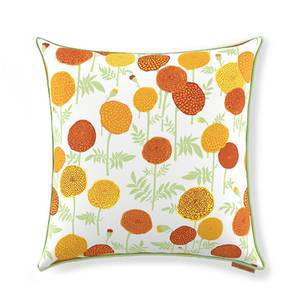 "Marigold Cushion Cover - Set Of 2 (18"" X 18"" Cushion Size, Multi Colour, Torana Pattern) by Urban Ladder"