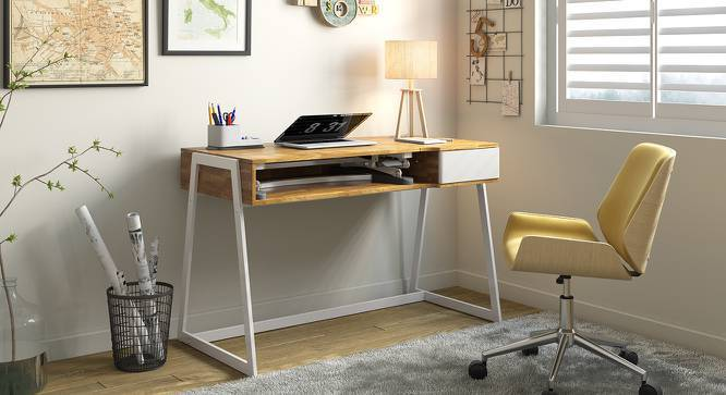 Herman Study Table (Golden Oak Finish) by Urban Ladder