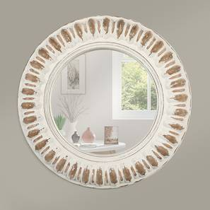 Hermes Wall Mirror (Distress White Finish) by Urban Ladder