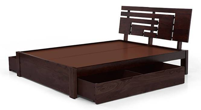 Stockholm Storage Bed (Mahogany Finish, Queen Bed Size, Drawer Storage Type) by Urban Ladder