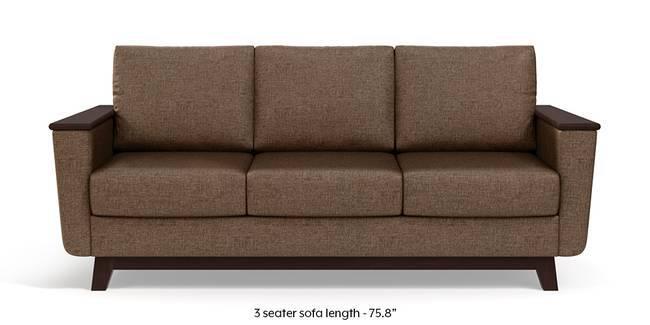 Corby Sofa (Mocha Brown) (3-seater Custom Set - Sofas, None Standard Set - Sofas, Mocha, Fabric Sofa Material, Regular Sofa Size, Regular Sofa Type)