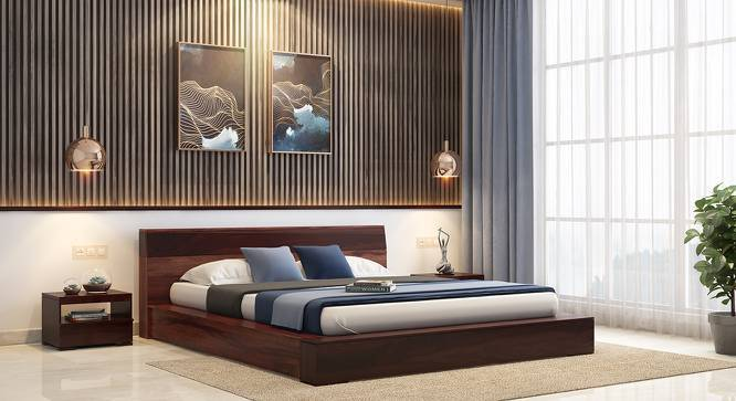 Duetto Platform Bed (Two-Tone Finish, Queen Bed Size) by Urban Ladder