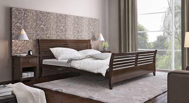 Vermont Bed (Queen Bed Size, Dark Walnut Finish) by Urban Ladder