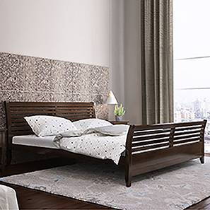 Vermont Bed (King Bed Size, Dark Walnut Finish) by Urban Ladder
