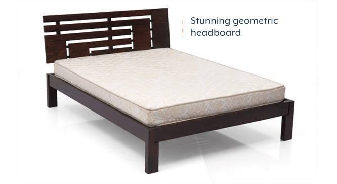 Stockholm Bed (Mahogany Finish, Queen Bed Size) by Urban Ladder