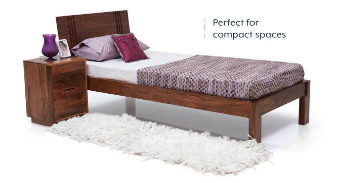 Yorktown Single Bed (Teak Finish, Without Trundle) by Urban Ladder