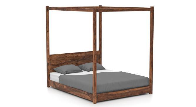 Striado Four Poster Bed (Teak Finish, Queen Bed Size) by Urban Ladder