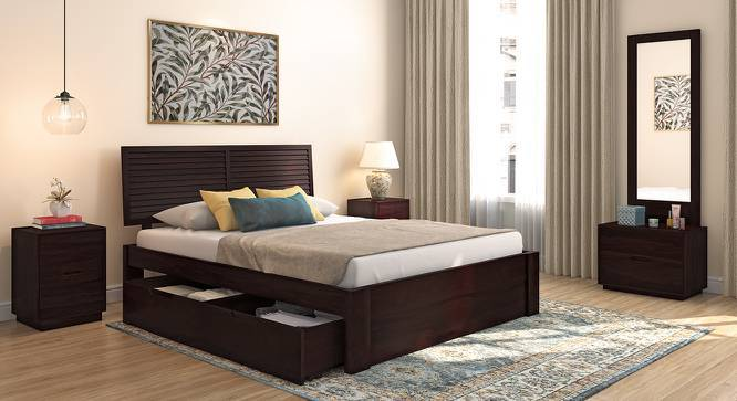 Terence Storage Bed Solid Wood