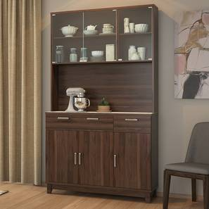 Alton 6 Door Tall Display Cabinet (Walnut Finish) by Urban Ladder
