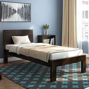 Boston Single Bed (Mahogany Finish, Without Trundle) by Urban Ladder