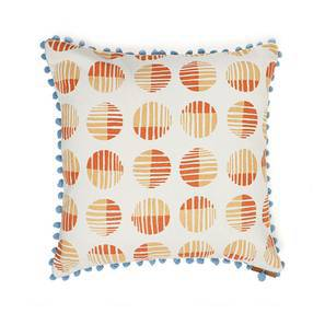 "Skyscape Cushion Cover - Set Of 2 (16"" X 16"" Cushion Size, Peach, Eos Pattern) by Urban Ladder"