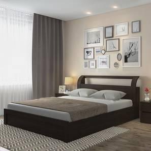 Sutherland Hydraulic Storage Bed with Cloud Pocket Spring Mattress with HD Foam (King Bed Size, Dark Walnut Finish) by Urban Ladder