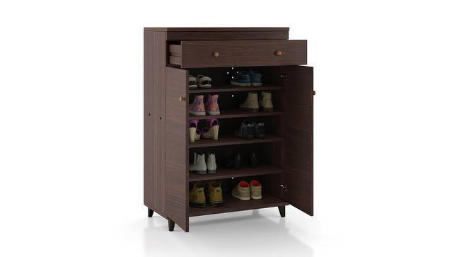 Zanotti Shoe Cabinet (Walnut Finish, 15 Pair Capacity) by Urban Ladder