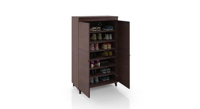 Zanotti Shoe Cabinet (Walnut Finish, 24 Pair Capacity) by Urban Ladder