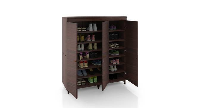 Zanotti Shoe Cabinet (Walnut Finish, 32 Pair Capacity) by Urban Ladder