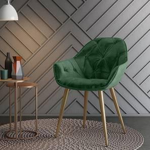 Julie Accent Chair (Emerald Green Velvet) by Urban Ladder