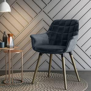 Sandra Accent Chair (Legion Blue Velvet) by Urban Ladder