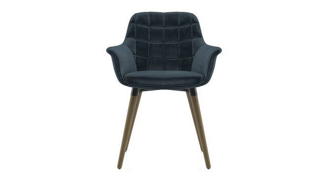 Sandra Accent Chair (Legion Blue Velvet) by Urban Ladder
