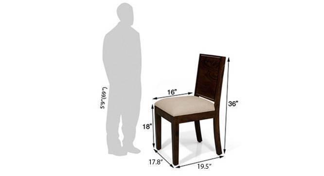 Oribi dining chairs mahogany wheat brown 06
