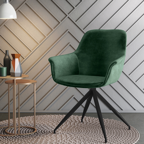 Hudson Accent  Chair (Emerald Green Velvet) by Urban Ladder