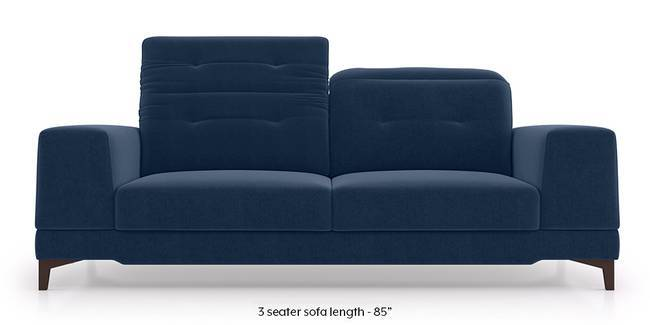 Derry Adjustable Sofa (Lapis Blue) (3-seater Custom Set - Sofas, None Standard Set - Sofas, Fabric Sofa Material, Regular Sofa Size, Regular Sofa Type, Lapis Blue)