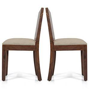 Oribi Dining Chairs - Set of 2 (Teak Finish, Wheat Brown) by Urban Ladder