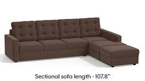 Apollo Sectional Tufted Sofa (Daschund Brown)